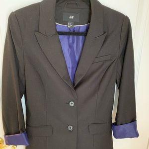 H&M black suit jacket